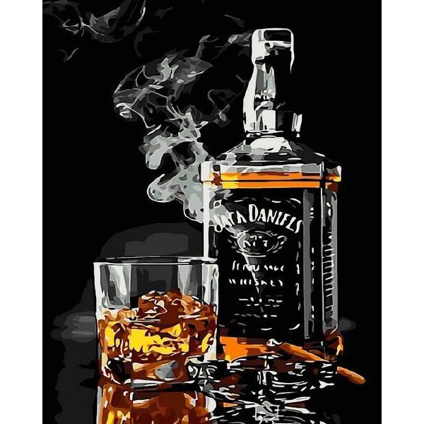 "Картина по номерам ""Виски и сигара"""