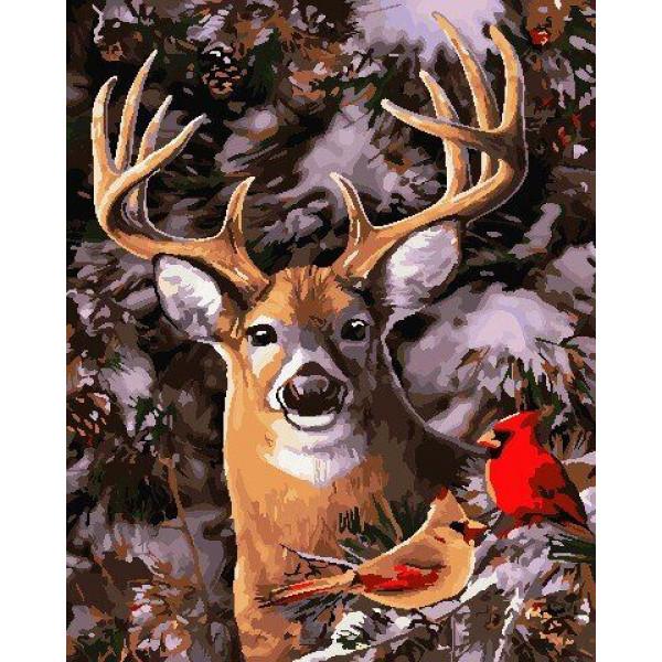 "Картина по номерам ""В зимнем лесу"""