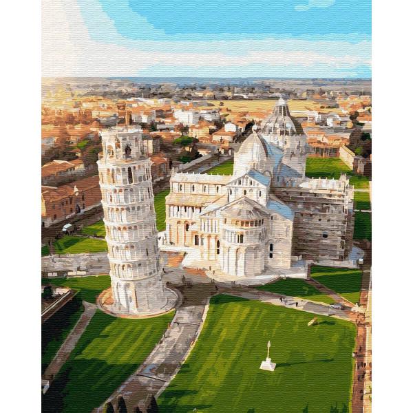"""Картина по номерам """"Вид на Пизанскую башню"""""""