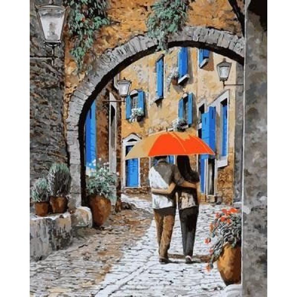 """Картина по номерам """"Апельсиновый зонтик"""""""