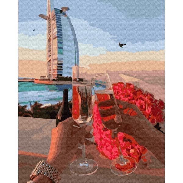 """Картина по номерам """"Вечерняя романтика в Дубае"""""""