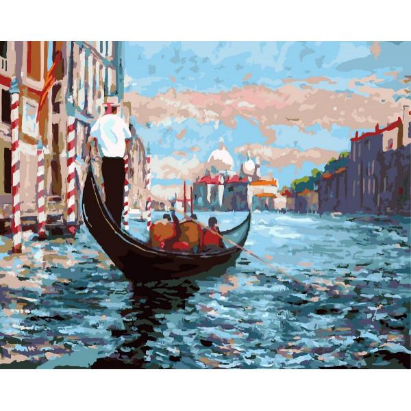 """Картина по номерам """"Венецианская гондола"""""""