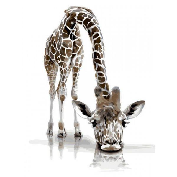 """Картина по номерам """"Забавный жираф"""""""