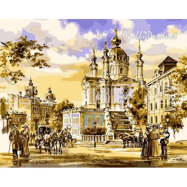 """Картина по номерам """"Андреевская церковь"""""""