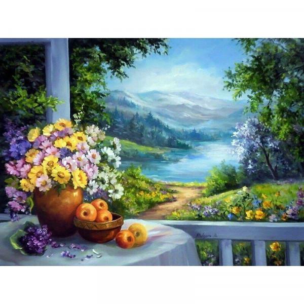 "Картина по номерам ""Домик у озера"""
