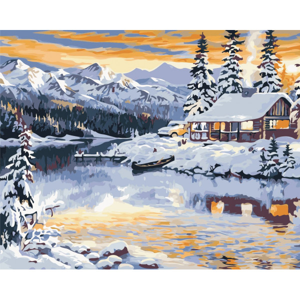"Картина по номерам ""Волшебная зима"""