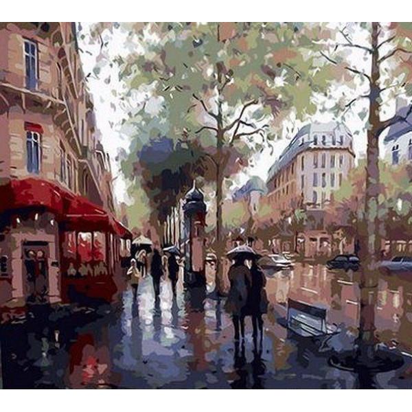 """Картина по номерам """"Дождливый день"""""""