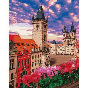 """Картина по номерам """"Терасса в Праге"""""""