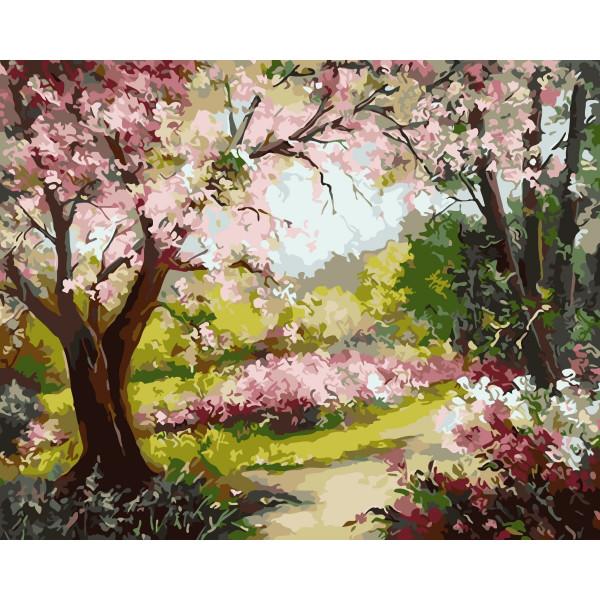 "Картина по номерам ""Весеннее цветение"""