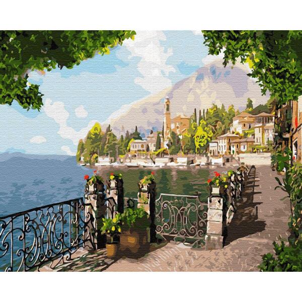 """Картина по номерам """"Берег у подножья горы"""""""