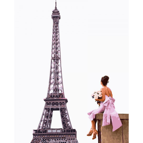 """Картина по номерам """"Её парижские мечты"""""""