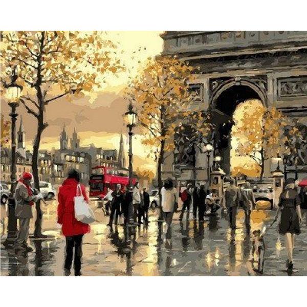"Картина по номерам ""Вечерний Лондон."""