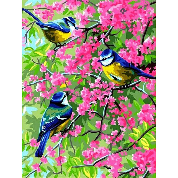 """Картина по номерам """"Весенние синички"""""""
