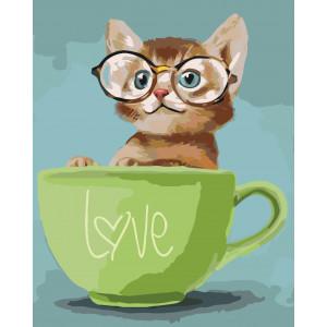 """Картина по номерам """"Lovely kitten"""""""