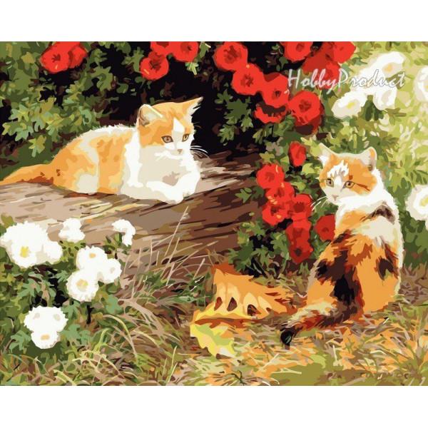 """Картина по номерам """"Два кота"""""""
