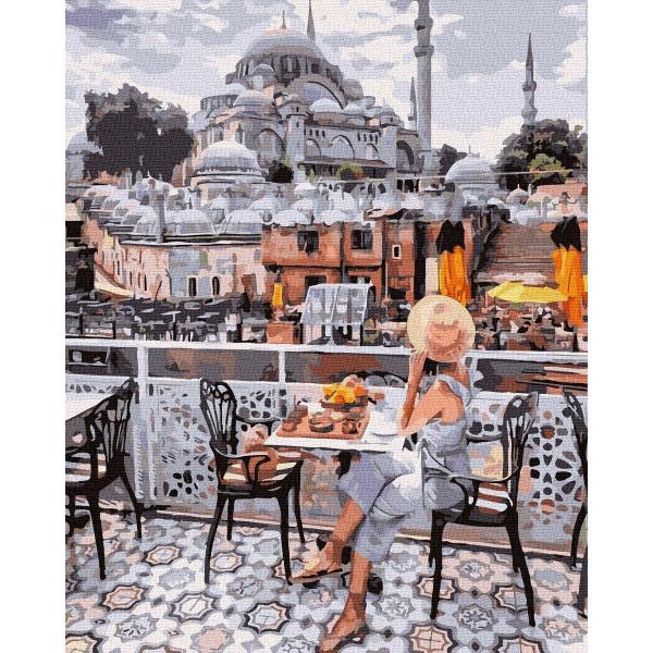 """Картина по номерам """"Завтрак у мечети"""""""