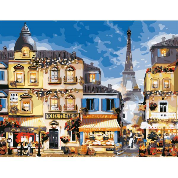 """Картина по номерам """"В центре Парижа"""""""