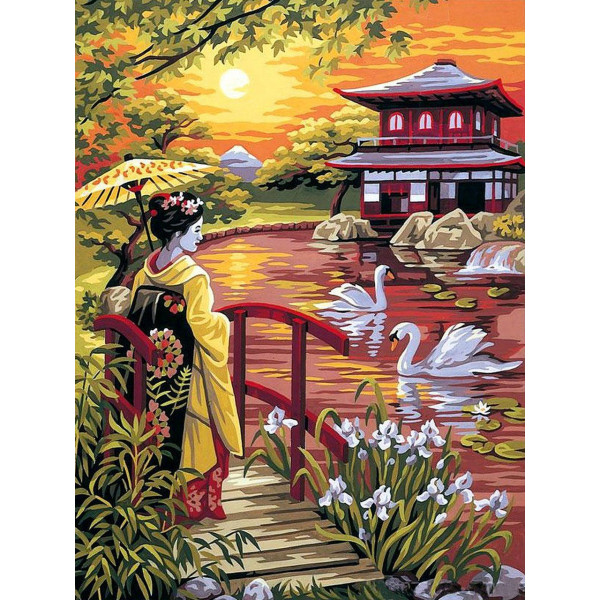 """Картина по номерам """"Волшебная Япония"""""""
