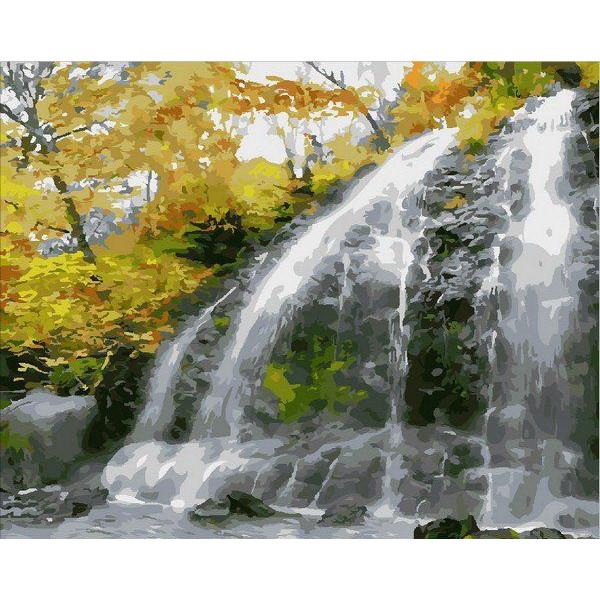 """Картина по номерам """"Водопад и золотые листья"""""""