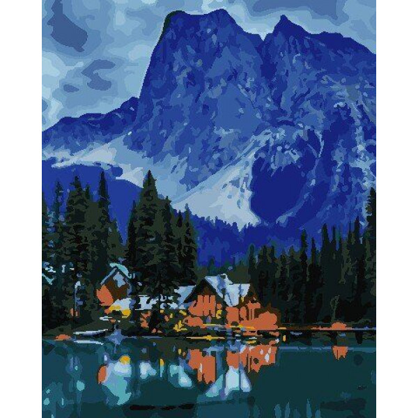 "Картина по номерам ""Где-то в горах"""