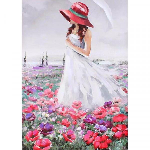 "Картина по номерам ""В поле цветов"""