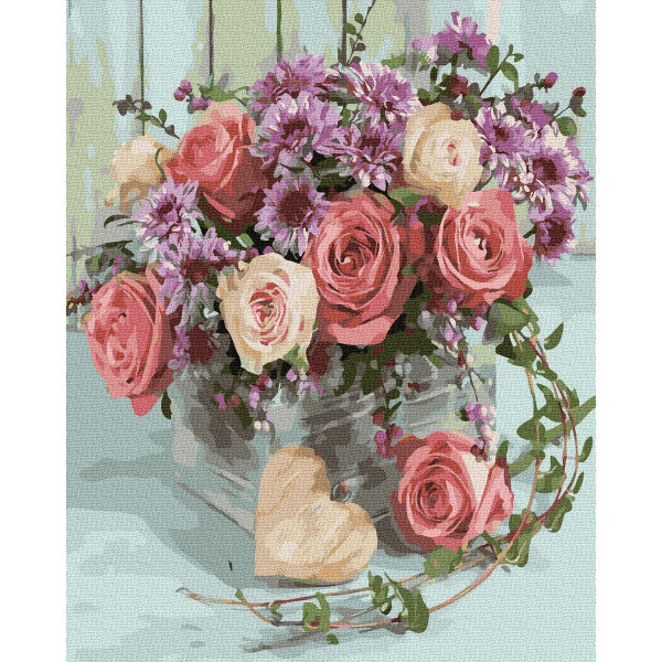 "Картина по номерам ""Букет из роз"""