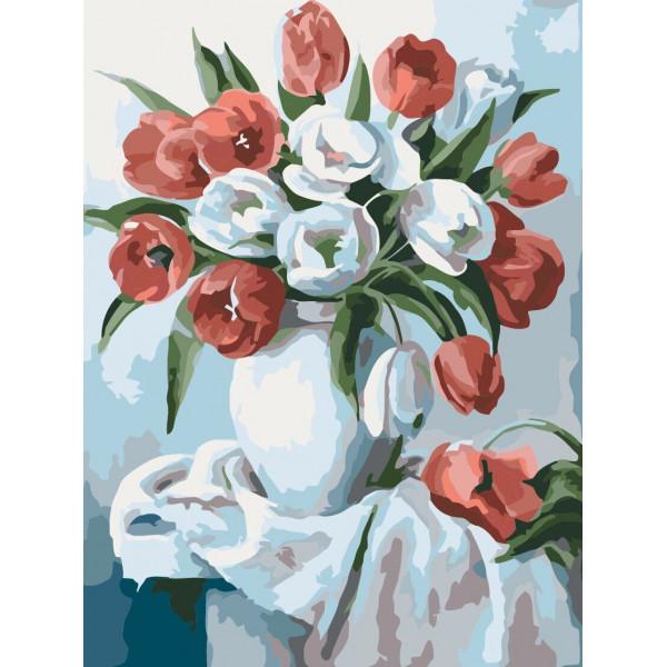 """Картина по номерам """"Букет ярких тюльпанов"""""""