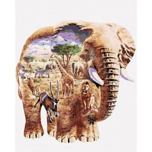 """Картина по номерам """"В мире животных"""""""