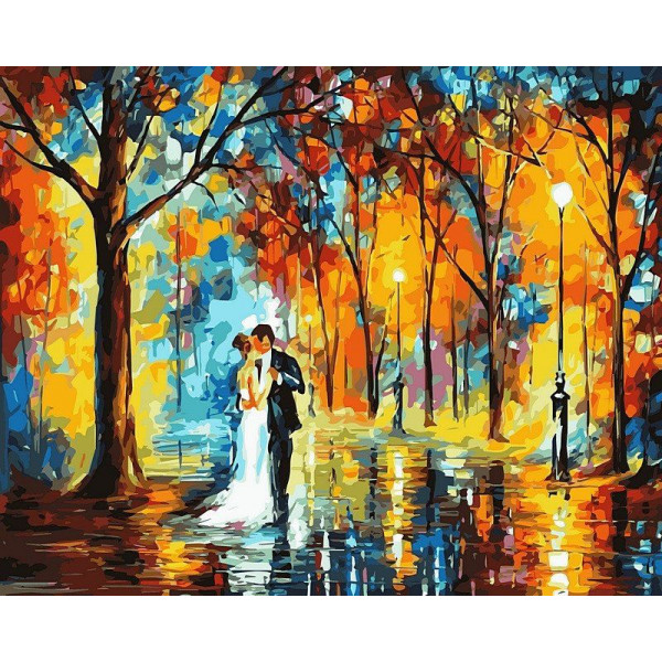 """Картина по номерам """"Дождливая свадьба"""""""