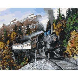 "Картина по номерам ""Скорый поезд"""