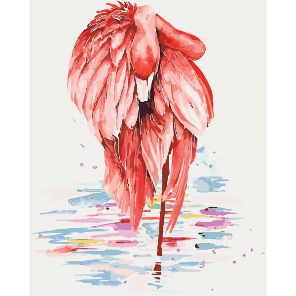 """Картина по номерам """"Грациозный фламинго"""""""