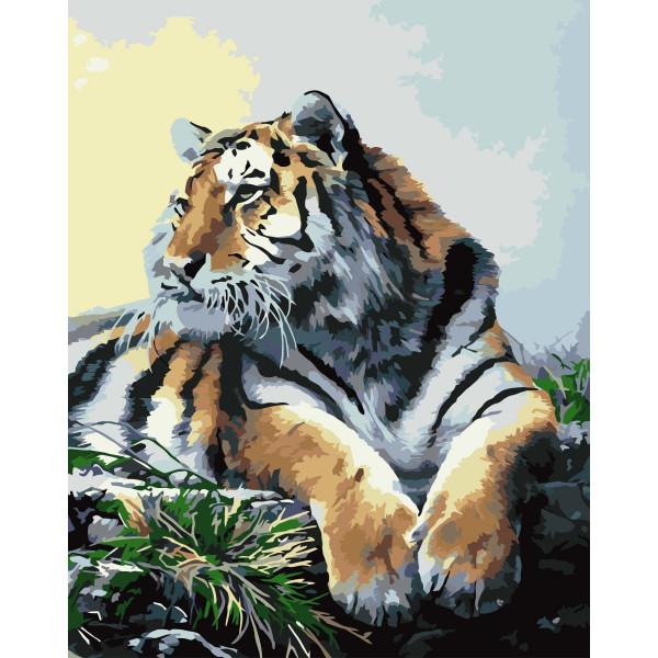 "Картина по номерам ""Гордый тигр"""