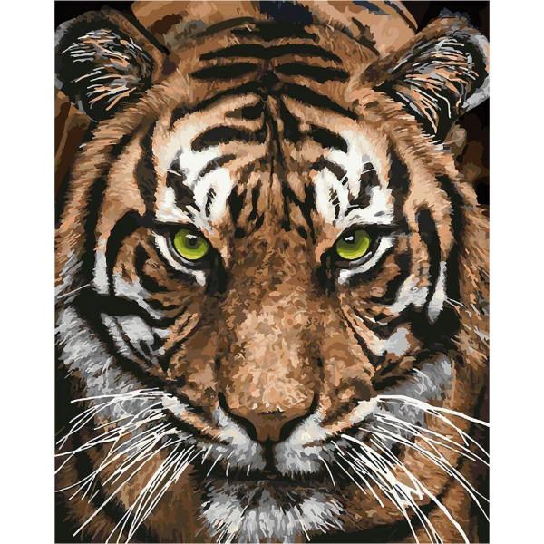 """Картина по номерам """"Величественный тигр"""""""