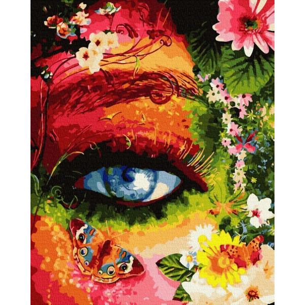 """Картина по номерам """"Глаз в цветах"""""""