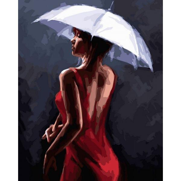 """Картина по номерам """"Грация под дождем"""""""