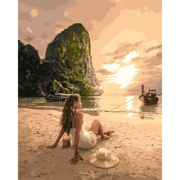 """Картина по номерам """"Влюбленная в море"""""""