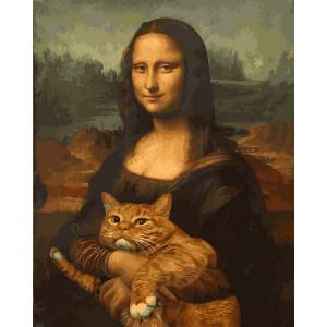 "Картина по номерам ""Мона Лиза с котом"""
