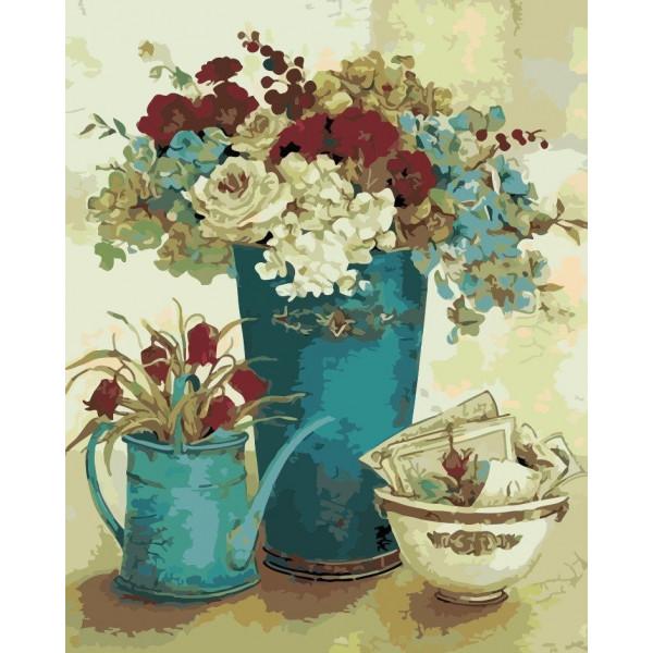 """Картина по номерам """"Винтажные цветы"""""""