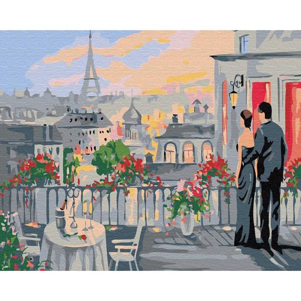 """Картина по номерам """"Влюблённые на терассе"""""""
