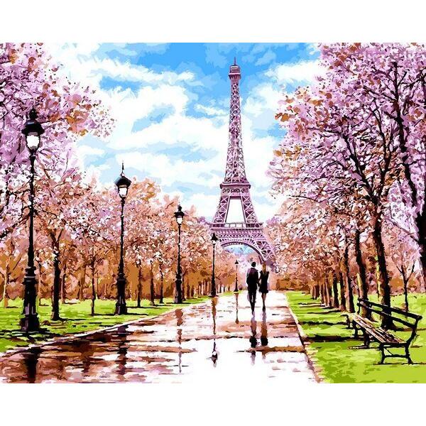"""Картина по номерам """"Апрель в Париже"""""""