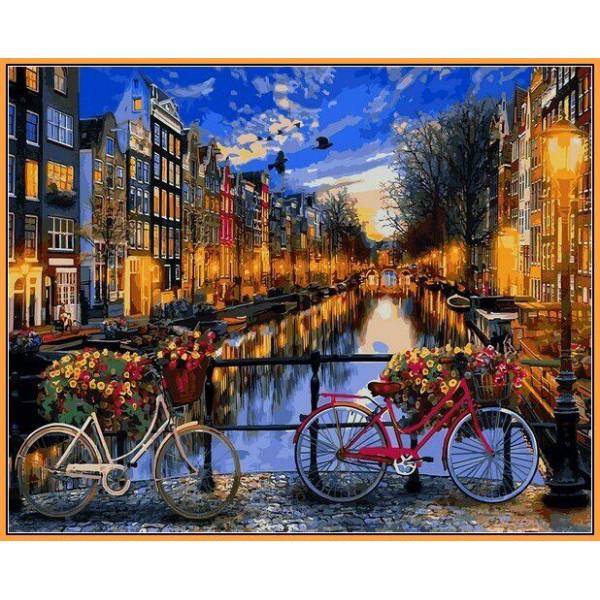 "Картина по номерам ""Вечерний Амстэрдам"""