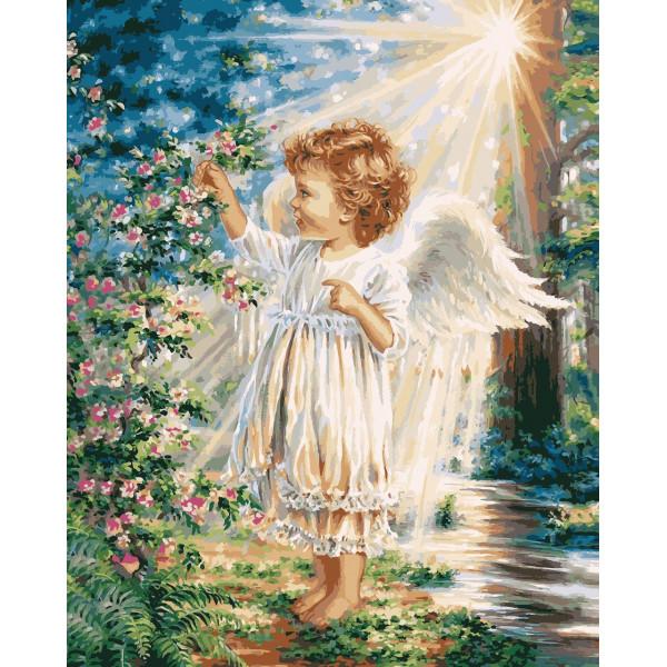 """Картина по номерам """"Весенний ангелочек"""""""