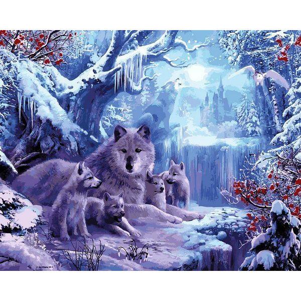 "Картина по номерам ""Вольчя зима"""