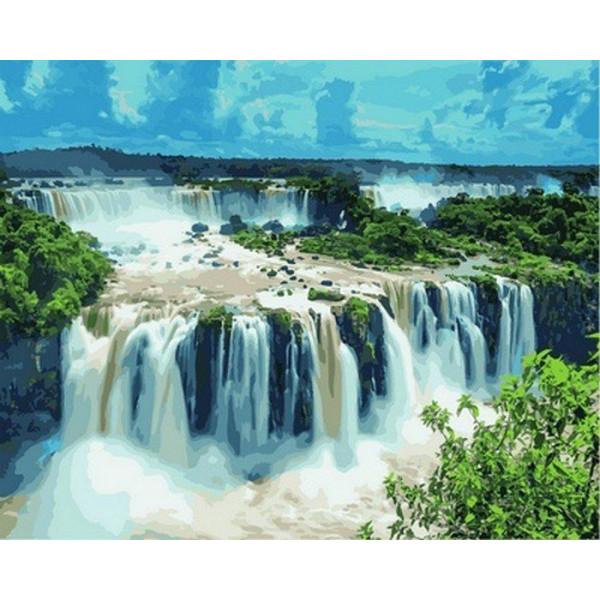 """Картина по номерам """"Водопады Игуасу. Бразилия"""""""