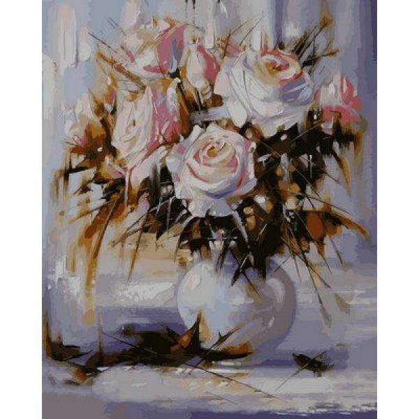 """Картина по номерам """"Белые розы"""""""