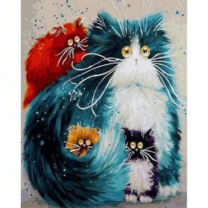 "Картина по номерам ""Мама кошка"""