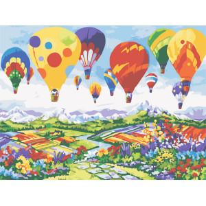 """Картина по номерам """"Воздушные шары над Провансом"""""""