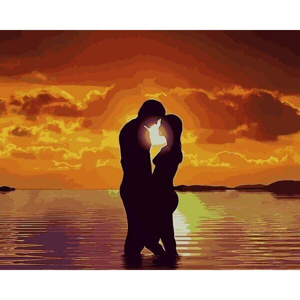 """Картина по номерам """"Влюблённые на закате"""""""