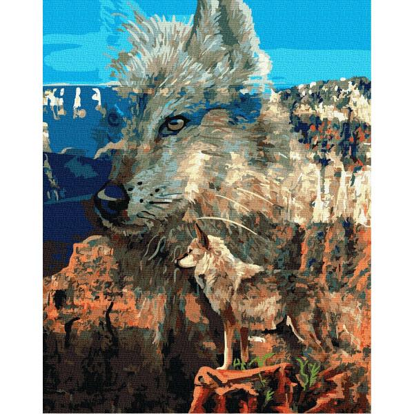 """Картина по номерам """"Волк в каньоне"""""""