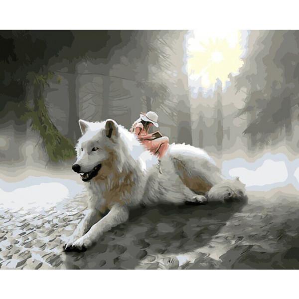 """Картина по номерам """"Белый волк"""""""